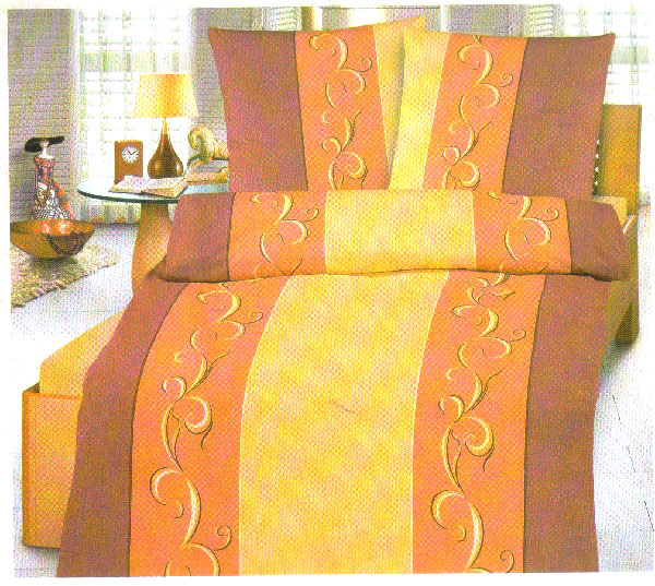 biberna bettw sche garnitur microfaser flanell orange t ne 80x80 155x220 cm bw2 ebay. Black Bedroom Furniture Sets. Home Design Ideas