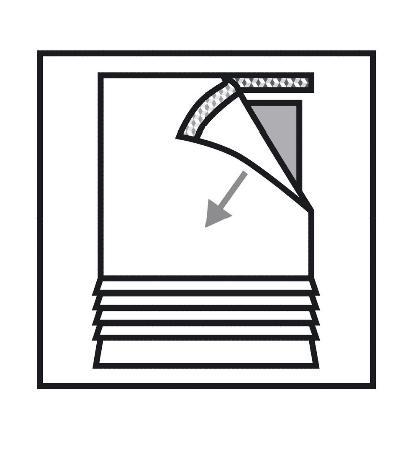 1 x raffrollo natur stickerei klettband b 80 cm k251. Black Bedroom Furniture Sets. Home Design Ideas