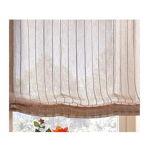 1 x raffrollo leinenfarben mit sen b 45 cm h 135 cm k326. Black Bedroom Furniture Sets. Home Design Ideas