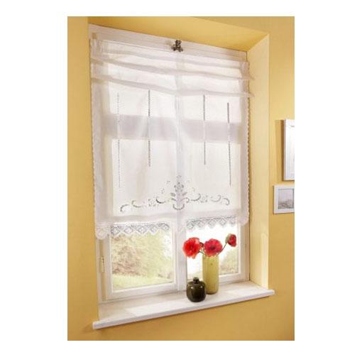 1 x raffrollo klipp raffgardine h kelbord re wei b 120 cm h 135 cm f559 ebay. Black Bedroom Furniture Sets. Home Design Ideas