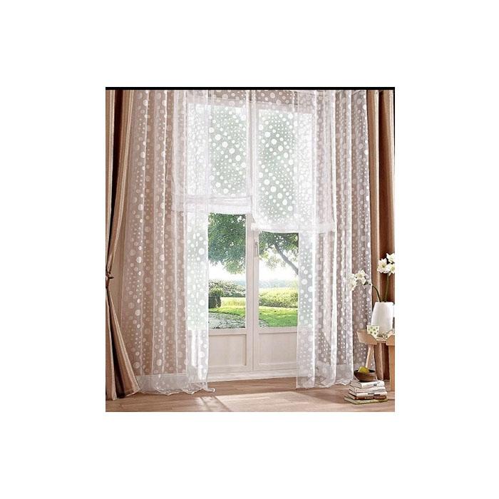 2 x gardine madura wei kr uselband transparent punkte h 245 cm 2 wahl k824 ebay. Black Bedroom Furniture Sets. Home Design Ideas