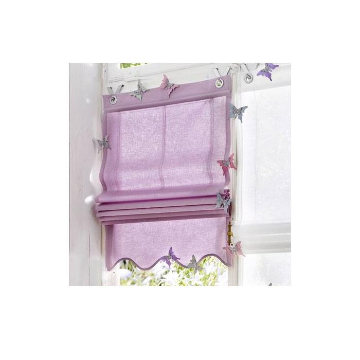 1 x store lavande vagues cl ture opaque avec crochet b 45. Black Bedroom Furniture Sets. Home Design Ideas
