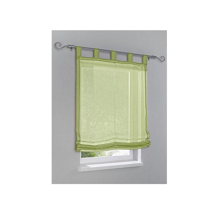 1 x raffrollo mit schlaufen gr n b 100 cm h 140 cm 2 wahl k255 ebay. Black Bedroom Furniture Sets. Home Design Ideas
