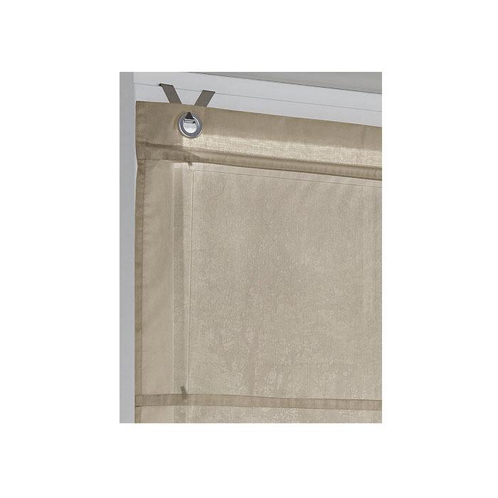 1 x raffrollo mit haken ohne bohren natur b 100 cm h140 cm. Black Bedroom Furniture Sets. Home Design Ideas