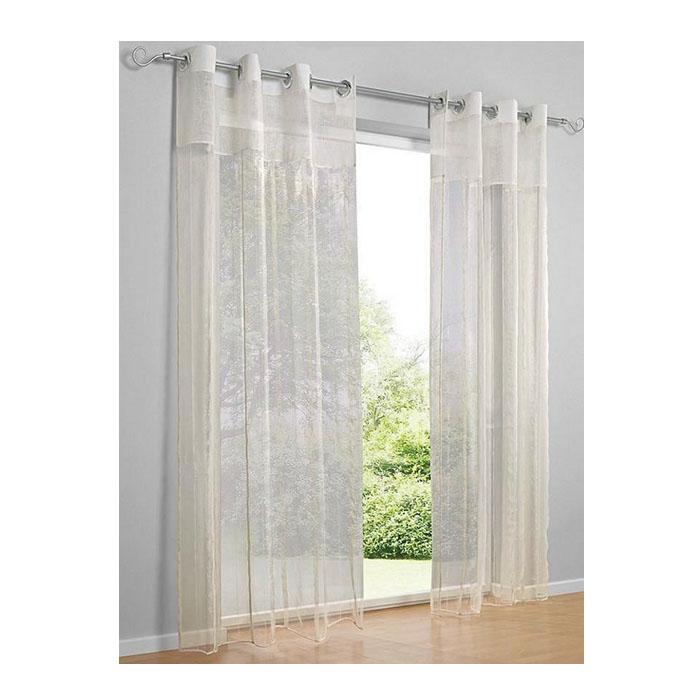 1 x dekostore mit sen natur wei transparent stoff h leipzig. Black Bedroom Furniture Sets. Home Design Ideas
